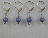 Removable Stitch Markers - Light Purple Fossil Beads - Item No. 865