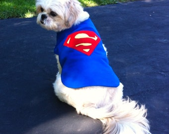 Superman Dog Coat or Costume Size X-Small
