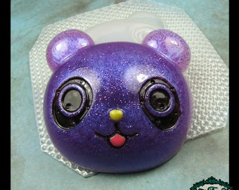 resin MOLD PANDA BEAR Head 60x60mm also works with soap, candle wax, and clay
