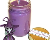 Witching Hour Mason Jar Container Candle Tea and Citrus Scent 12 Oz