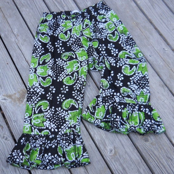 Black and Green Batik Print Bloomers for Women Medium 12-14 SALE