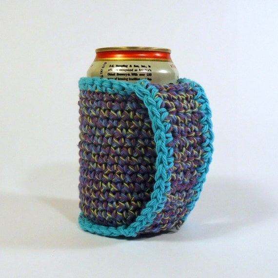 Beer Coozie Can Koozie Crochet Coozie with a Handle