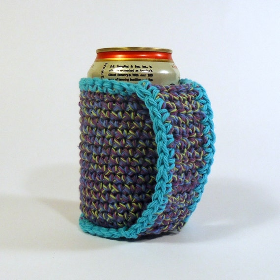 Crochet Patterns For Koozies : Beer Coozie Can Koozie Crochet Coozie with a Handle