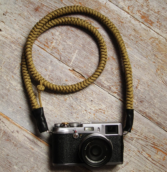 Camera Strap Hand knotted - Khaki - Strong, Beautiful and Unique