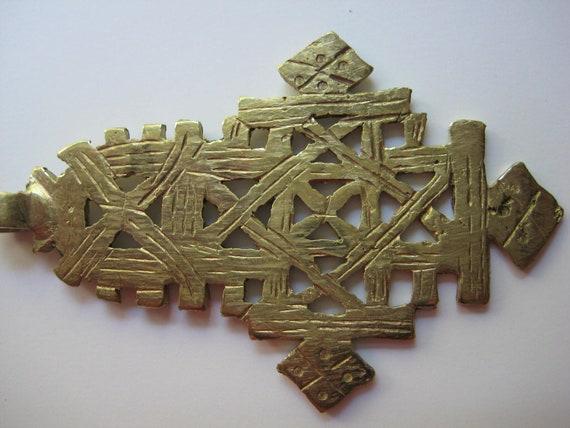 SALE Brass/gold color Ethiopian Coptic Cross