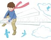 Small My Paper Plane Wall Sticker
