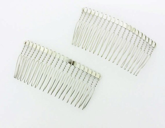 80mm 3 inch silver metal hair comb 12 pieces from for Metal hair combs for crafts