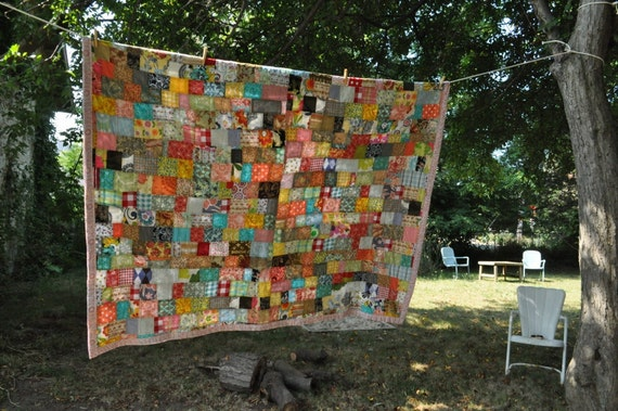 farmhouse quilt cotton colorful and charming
