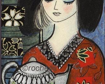 Tea Pot Lady card