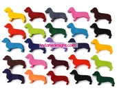 KIDS' DOG CRAYONS - Birthday Party Pack of 20 Favors - Eco-Friendly Children's Toys in Assorted Colors - Dachshunds, Wiener Dogs, Doxies