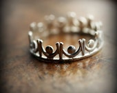 Crown ring 02 - sterling silver ring