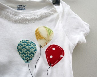 Birthday Balloons Onesie - Boy - Girl - Baby todler - with or without lace