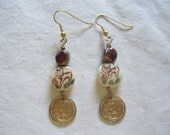 Cat Earrings with Coins - WEEKEND SALE