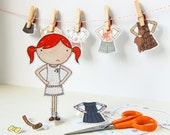 Clara Paper Doll, Dress-up Doll - The Signature Outfits - Keep Me, Gift Me Set