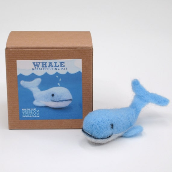 Whale Needle Felting Kit