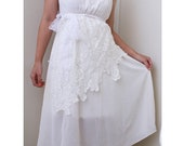White Dove Lace Wedding Gown Reception Dress