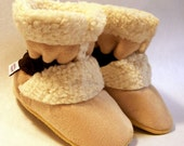Honey Bear - Sherpa Suede Boots for Kids - 4 Sizes - Infant to Toddler - Toe-Sters