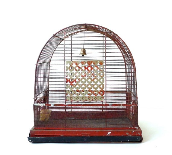 Vintage Red Birdcage by Pacific