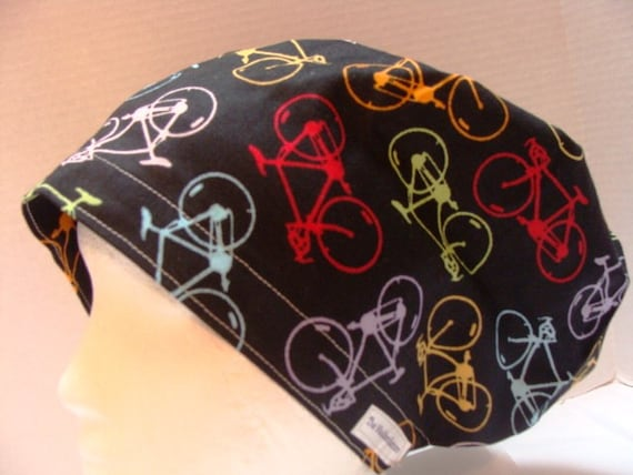 Bike Ride Hattie .............Surgical Hat...Chemo Hat...Bakers Hat