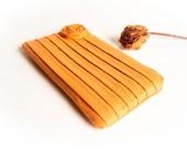 Bridesmaid Gift Idea Clutch, Rustic wedding clutch purse, Orange Pumpkin, Romantic Rose