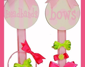 SALE 2 NEW Girls Hair Bow Head Band Holders Wall Decor