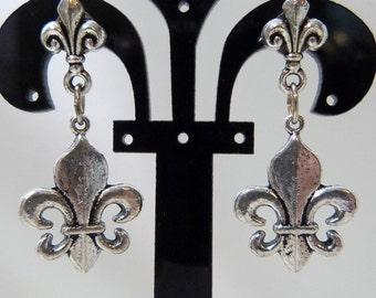 Fleur De Lis Post Earrings