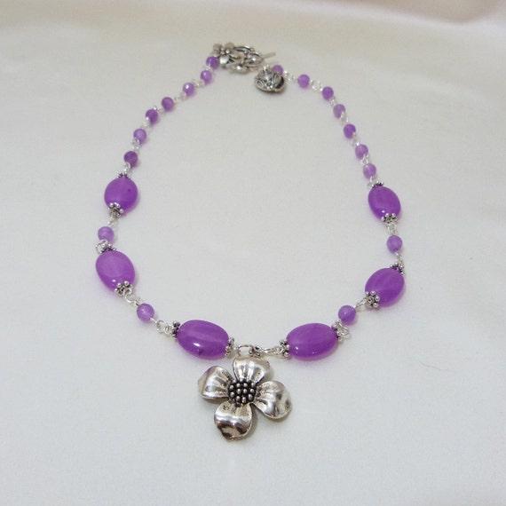 Lavender Alexandrite Necklace