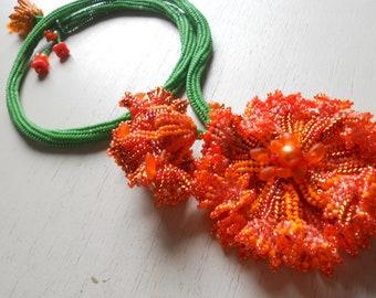 Tangerine Tango Twist Neckpiece