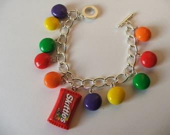 Taste the Rainbow....................Skittles Charm Bracelet
