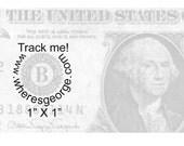 where's george Wheresgeorge.com Clear Rubber Stamp
