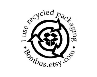 I use recycled packaging box custom rubber stamp