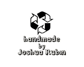 Handmade by Recycle themed custom Rubber Stamp