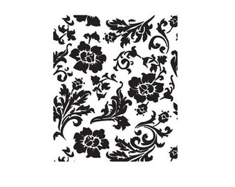 CLEARANCE Decorative floral background Rubber Stamp