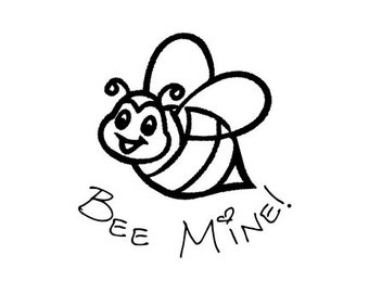 CLEARANCE Bee Mine Valentines Day Rubber Stamp