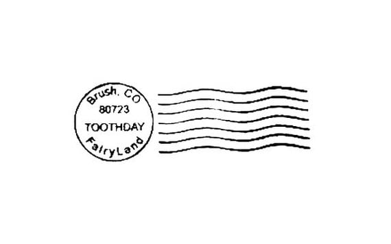 Tooth Fairy Postmark Mail Art Rubber Stamp