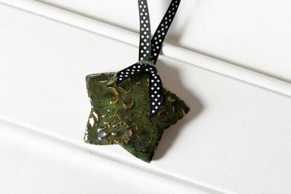 Green Star Ornament