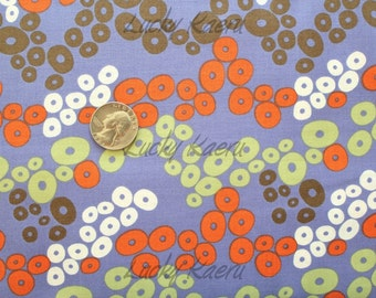SALE Jane DIxon, Primativa, Circles Purple Fabric - Half Yard
