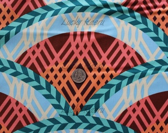 SALE/CLEARANCE Melissa Averinos, Swoon Arches Teal Fabric - Half Yard (Last One)