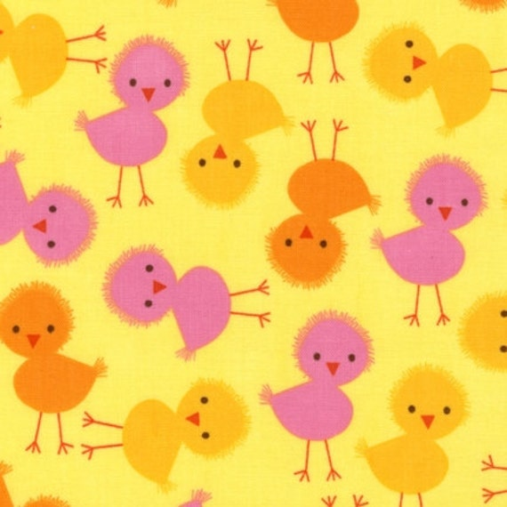 NEW Ann Kelle Urban Zoologie, Chicks in Spring Fabric - By the Yard