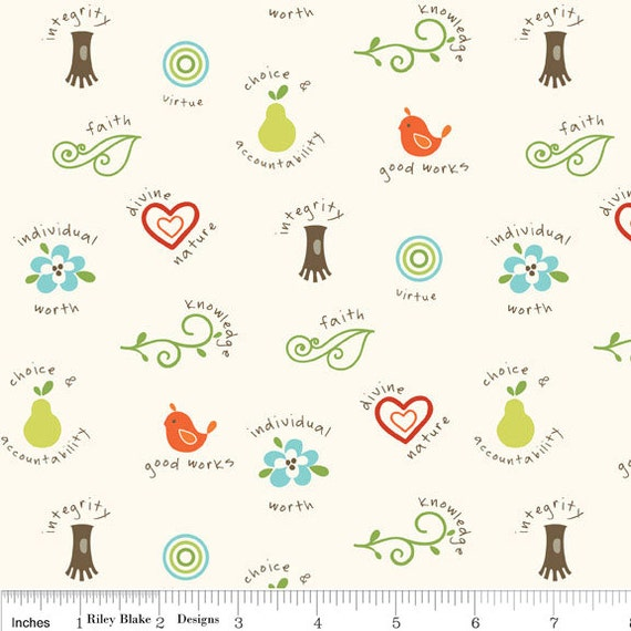 NEW Riley Blake Designs, Good Life,  Values Cream Fabric - By the Yard