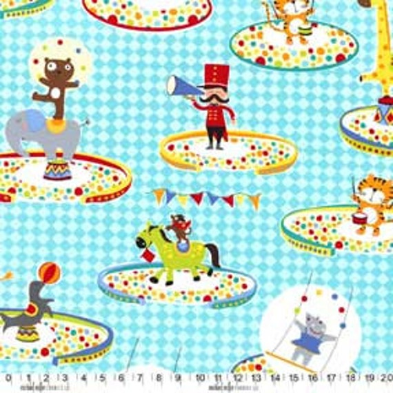 Michael Miller Pierre's Famous Traveling Circus, Three Ring Circus Multi Fabric - 1 Yard