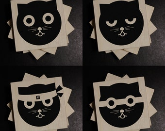 Coasters - Watson the Cat - Variety Collection - Set of Four