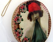 Sexy Lady Christmas Ornament . 1920s Nude