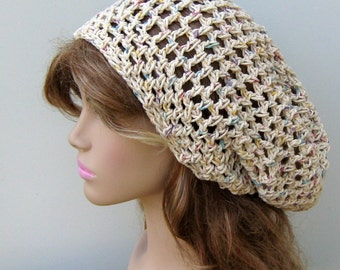 Potpourri Cotton hippie dread tam hat slouchy snood beanie