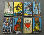 Wooden Tarot Card Tiles - Collection of 24 Different Cards