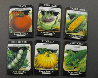 Vintage Seed Packets - Collection of 10 different Wood Cuts