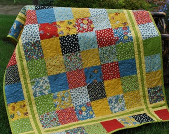 Quilt Pattern.....Charm square, Layer Cake or Fat Quarter friendly, ..Table runner, baby and lap size, Simple Stitches