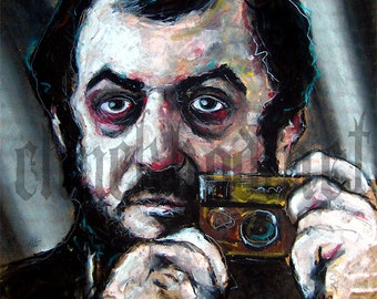 "Print 8x10"" - Stanley Kubrick Self Portrait - Clockwork Orange The Shining Director Film Cimena 2001 Pop Horror Cult Drama"