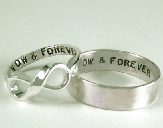 the original his and her infinity now amp forever rings ii
