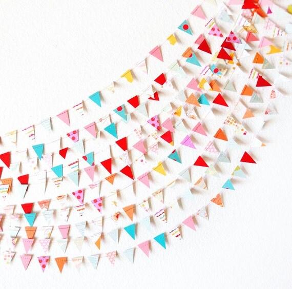 Circus Celebration 15' Wedding Paper GARLAND, Wedding Decoration, Home Decor, Birthday, Nursery, Baby Shower